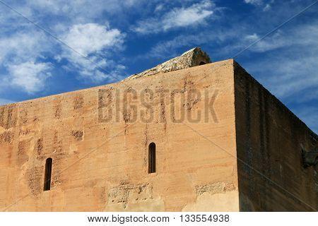 Façade of monument of The Alhambra , Grenada , Spain