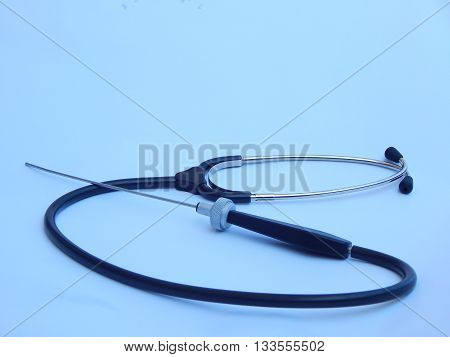 Technical stethoscope for the noise control in motors.
