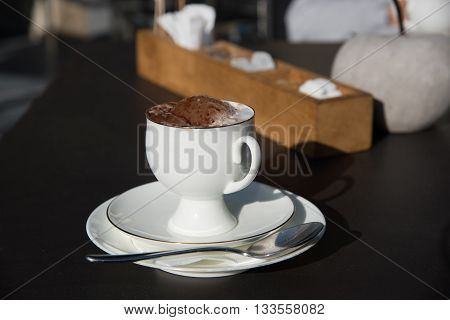 Cappuccino Cup On The Table