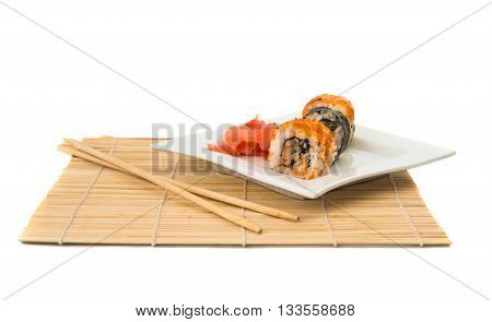 fish, food sushi isolated on white background