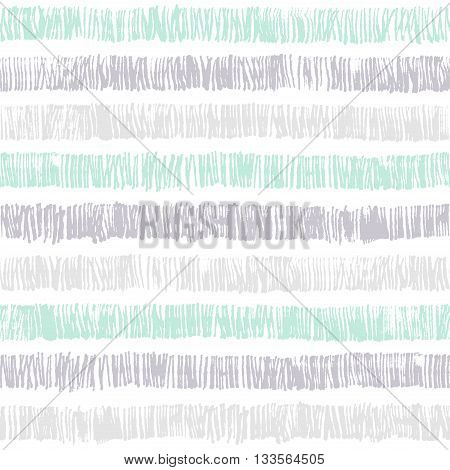 Vector hipster striped seamless pattern. Abstract hand drawn background texture. Stylish doodles. Modern graphic design. Good for wrapping paper and fabric design, Baby Shower, Birthday, Easter, Wedding, Greeting Cards, Mothers Day and scrapbook.