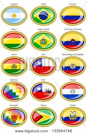 Flags Of The South America