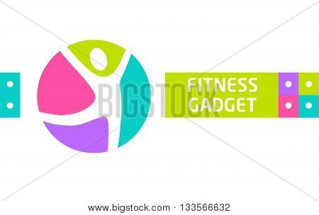 Fitness gadget. Vector design elements for website advertising gadgets sports. Logo for the sports and fitness gadgets. An active lifestyle and sports.