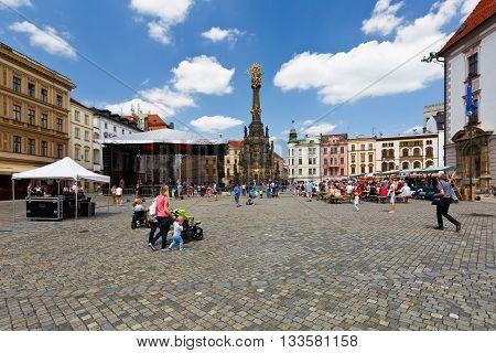 OLOMOUC, CZECH REPUBLIC - JUNE 04, 2016: Eventin the main square of the old town of Olomouc, Czech Republic on June 04, 2016.