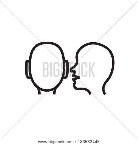 Whisper icon in vector. Whisper outline concept icon logo.