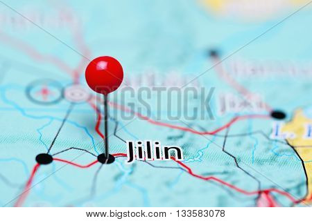 Jilin pinned on a map of China
