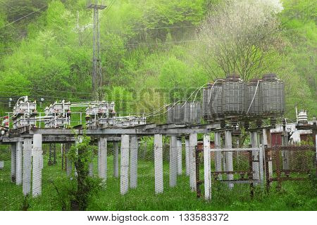 Electric station in countryside