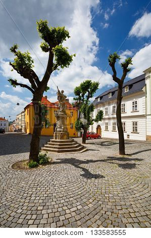 Streets in the old town of Olomouc, Czech Republic.