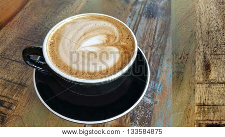 Coffee in Black Cup Design