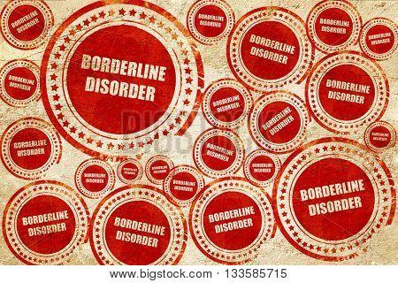 Borderline sign background, red stamp on a grunge paper texture