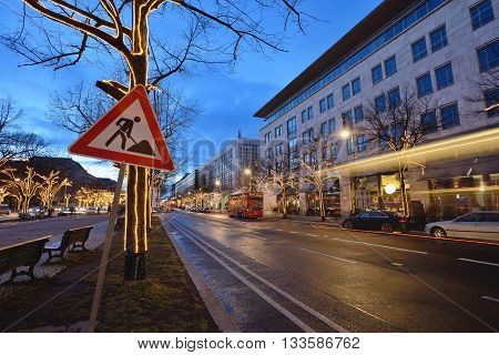 BERLIN - DECEMBER 26: Street decorations on 26 December 2014 in Berlin Germany. Berlin is the capital city of the German Christmas Markets.