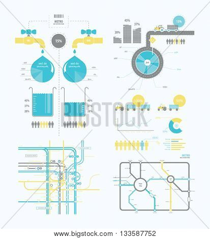 infographics abstract presentation for business companies