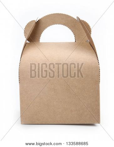 Paper bag set on a white background.