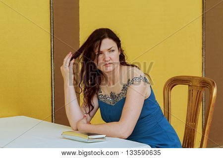 Very Beautiful Woman Is Bored Alone