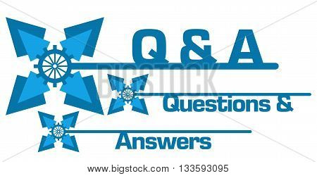 Q And A - Questions and Answers concept image with text and graphics.