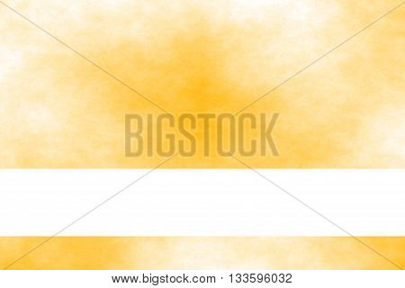 Orange and white smoky background with white baner