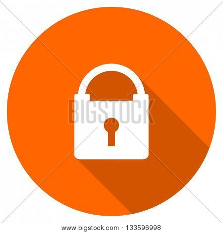 padlock vector icon, circle flat design internet button, web and mobile app illustration