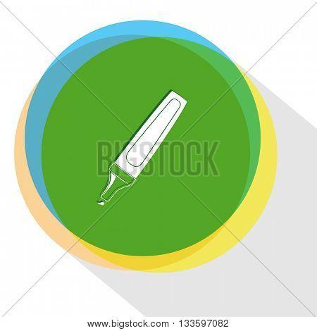 felt pen. Internet template. Vector icon.