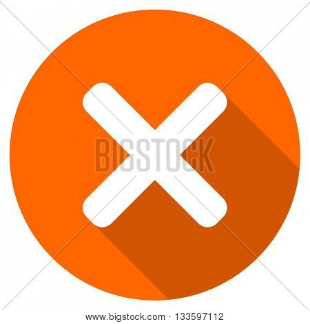cancel vector icon, circle flat design internet button, web and mobile app illustration