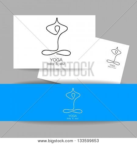 yoga logo design template yoga health care beauty spa relax