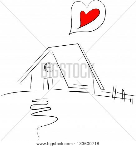 home sweet home, drawing vector art work