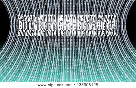 Futuristic vector backdrop with big data and binary code