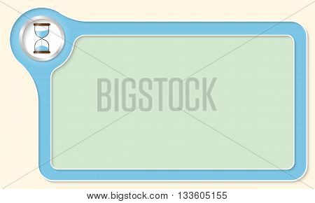 Vector frame for your text and sand glass