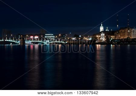 Troitsky Bridge At The Night