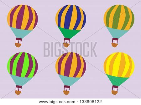 seamless travel pattern of balloons - vector