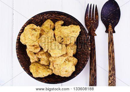 Delicious food: Crude Soy Schnitzel Studio Photo
