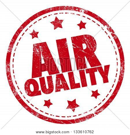 Grunge rubber stamp with text - Air Quality