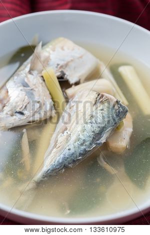 Food series : Spicy soup with mackerel, Thai foods