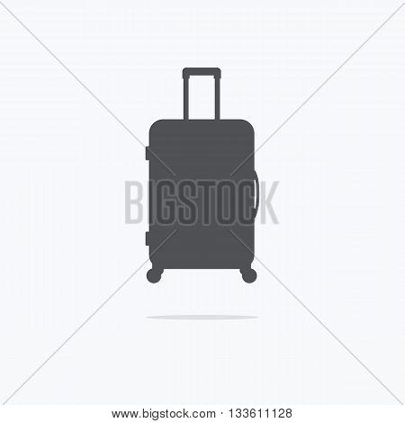 Suitcase. Icon suitcase. Vector illustration on a light background.
