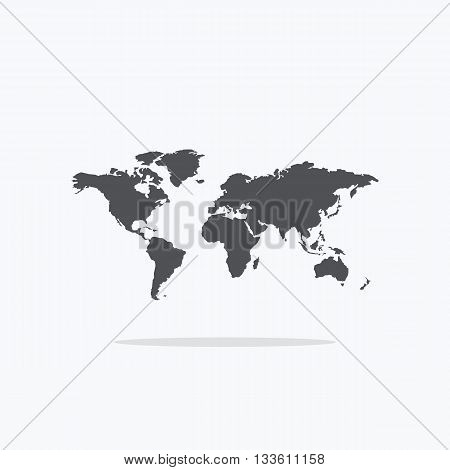 World map. Icon map of the world. Vector illustration of a world map.