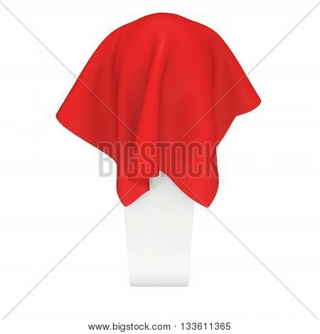 Presentation Pedestal Covered With Red Cloth
