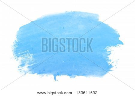blue watercolor background on white background for design