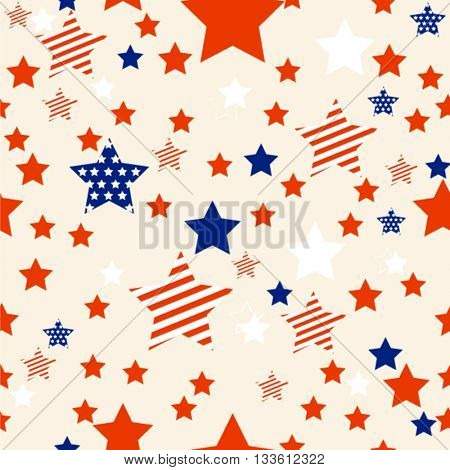 Fourth of July seamless background