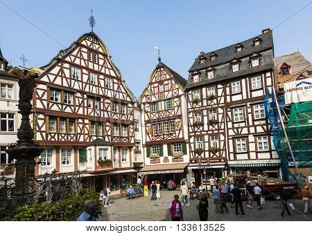 People Visit Old Village Of  Bernkastel-kues
