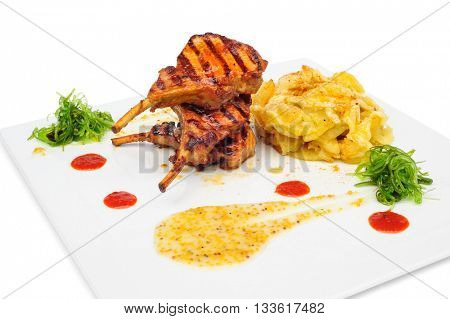 Grilled rabbit legs