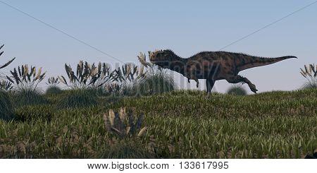 3d illustration of alluring majungasaurus