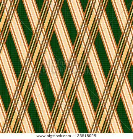 Seamless Pattern In Orange And Green Hues