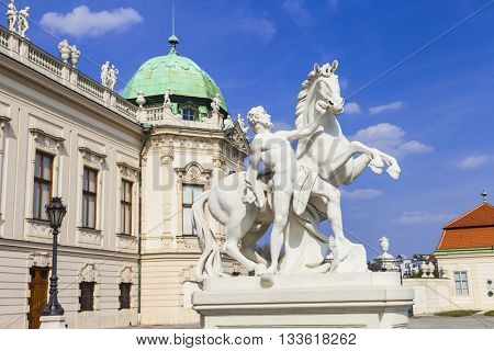 beautiful Belvedere palace in Vienna. Austria