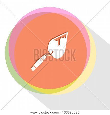 trowel. Internet template. Vector icon.