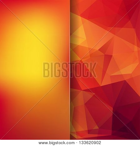 Background Of Geometric Shapes. Blur Background With Glass. Colorful Mosaic Pattern. Vector Eps 10.
