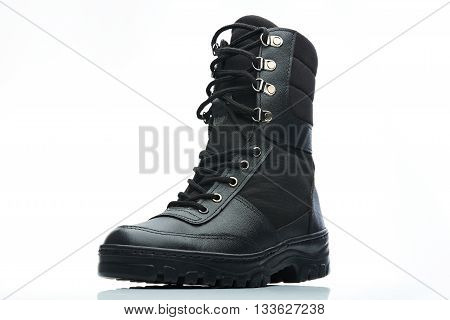 Tall Black Combat Boot