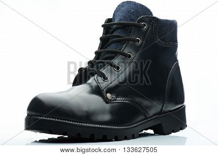 Black With Blue Boot