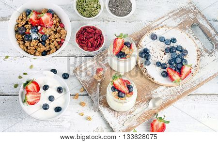 Yogurt, Muesli, Fresh Berries