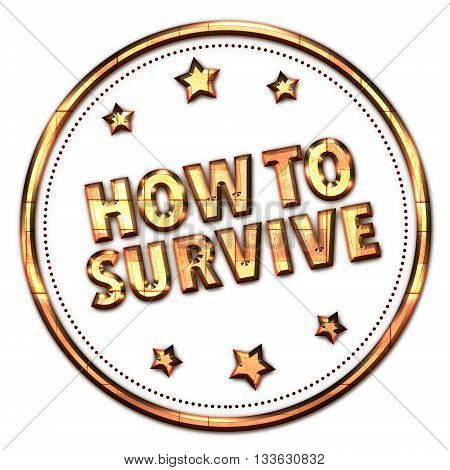 How to survive word on white background