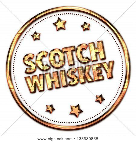 Scotch WHISKEY word on white - background