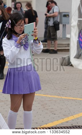 Cosplayer Dressed As Character From Anime Movie